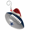 Item # 420853 - Dallas Cowboys Team Ball With Santa Hat Christmas Ornament