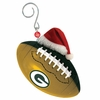 Item # 420855 - Green Bay Packers Team Ball With Santa Hat Christmas Ornament