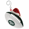 Item # 420859 - New York Jets Team Ball With Santa Hat Christmas Ornament