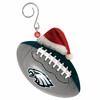 Item # 420861 - Philadelphia Eagles Team Ball With Santa Hat Christmas Ornament
