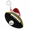 Item # 420862 - Pittsburgh Steelers Team Ball With Santa Hat Christmas Ornament