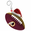 Item # 420863 - Washington Redskins Team Ball With Santa Hat Christmas Ornament