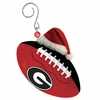 Item # 420868 - University of Georgia Bulldogs Team Ball With Santa Hat Christmas Ornament