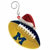 Item # 420870 - University of Michigan Wolverines Team Ball With Santa Hat Christmas Ornament