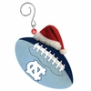 Item # 420871 - University of North Carolina Tar Heels Team Ball With Santa Hat Christmas Ornament