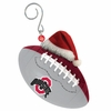 Item # 420872 - Ohio State University Buckeyes Team Ball With Santa Hat Christmas Ornament