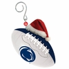 Item # 420873 - Penn State University Nittany Lions Team Ball With Santa Hat Christmas Ornament