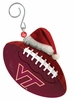 Item # 420875 - Virginia Tech Hokies Team Ball With Santa Hat Christmas Ornament