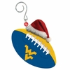 Item # 420876 - West Virginia University Mountaineers Team Ball With Santa Hat Christmas Ornament