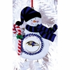 Item # 420883 - Claydough Baltimore Ravens Snowman Ornament