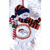 Item # 420887 - Claydough Denver Broncos Snowman Christmas Ornament