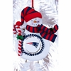 Item # 420889 - Claydough New England Patriots Snowman Christmas Ornament