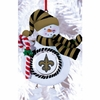 Item # 420890 - Claydough New Orleans Saints Snowman Christmas Ornament