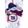 Item # 420891 - Claydough New York Giants Snowman Christmas Ornament