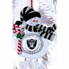Item # 420893 - Claydough Oakland Raiders Snowman Christmas Ornament