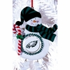 Item # 420894 - Claydough Philadelphia Eagles Snowman Christmas Ornament