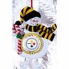 Item # 420895 - Claydough Pittsburgh Steelers Snowman Christmas Ornament