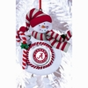 Item # 420897 - Claydough University of Alabama Crimson Tide Snowman Christmas Ornament