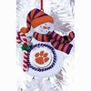 Item # 420898 - Claydough Clemson University Tigers Snowman Ornament