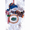 Item # 420899 - Claydough University of Florida Gators Snowman Christmas Ornament