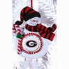Item # 420900 - Claydough University of Georgia Bulldogs Snowman Christmas Ornament