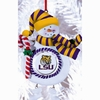 Item # 420902 - Claydough Louisiana State University Tigers Snowman Ornament