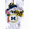 Item # 420903 - Claydough University of Michigan Wolverines Snowman Christmas Ornament