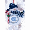 Item # 420904 - Claydough University of North Carolina Tar Heels Snowman Christmas Ornament