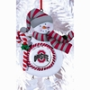 Item # 420905 - Claydough Ohio State University Buckeyes Snowman Christmas Ornament