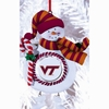 Item # 420908 - Claydough Virginia Tech Hokies Snowman Ornament