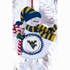 Item # 420909 - Claydough West Virginia University Mountaineers Snowman Ornament