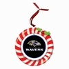 Item # 420916 - Claydough Baltimore Ravens Candy Cane Wreath Christmas Ornament