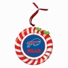 Item # 420917 - Claydough Buffalo Bills Candy Cane Wreath Christmas Ornament