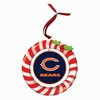 Item # 420918 - Claydough Chicago Bears Candy Cane Wreath Christmas Ornament