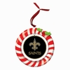 Item # 420923 - Claydough New Orleans Saints Candy Cane Wreath Christmas Ornament