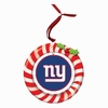 Item # 420924 - Claydough New York Giants Candy Cane Wreath Christmas Ornament