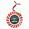 Item # 420925 - Claydough New York Jets Candy Cane Wreath Christmas Ornament