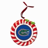 Item # 420931 - Claydough University of Florida Gators Candy Cane Wreath Christmas Ornament