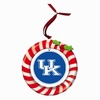 Item # 420933 - Claydough University of Kentucky Wildcats Candy Cane Wreath Christmas Ornament