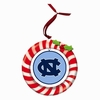 Item # 420936 - Claydough University of North Carolina Tar Heels Candy Cane Wreath Christmas Ornament