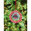 Item # 420937 - Claydough Ohio State University Buckeyes Candy Cane Wreath Christmas Ornament