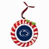 Item # 420938 - Claydough Penn State University Nittany Lions Candy Cane Wreath Christmas Ornament