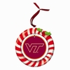 Item # 420939 - Claydough Virginia Tech Hokies Candy Cane Wreath Christmas Ornament