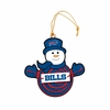Item # 420945 - Buffalo Bills Snowman With Sign Christmas Ornament