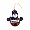 Item # 420946 - Chicago Bears Snowman With Sign Christmas Ornament