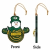 Item # 420949 - Green Bay Packers Snowman With Sign Ornament