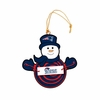 Item # 420950 - New England Patriots Snowman With Sign Christmas Ornament