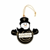 Item # 420951 - New Orleans Saints Snowman With Sign Christmas Ornament