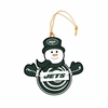 Item # 420953 - New York Jets Snowman With Sign Christmas Ornament