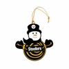 Item # 420956 - Pittsburgh Steelers Snowman With Sign Christmas Ornament